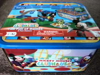 MICKEY MOUSE CLUBHOUSE TUB FULL OF GAMES,3 FUN GAMES