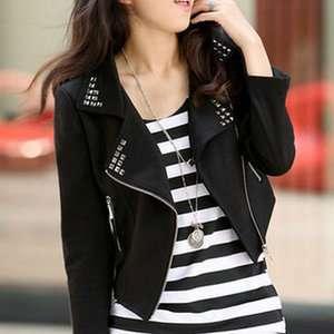 Fashion Womens Large Long Sleeve Short Jacket Coat 2 color 093