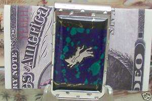 Brian Yellowhorse Ashurite Bull Rider Money clip