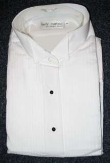 New White Lady Martino Wing Collar Tuxedo Shirt Size 20