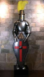 Medieval Knight in Suit of Armor and Shield 2meters 6.5 high