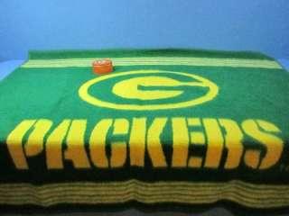 GREEN BAY PACKERS FOOTBALL BLANKET THROW & OVAL NFL TIN TRINKET BOX