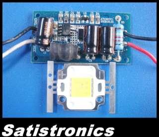 10W White High Power LED Lamp Light + 12v Driver