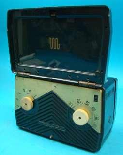 Motorola 5M1U AC/DC Portable Radio Green Metal Case P+R