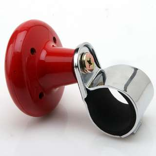 Car Suicide Knob Steering Wheel Ball Spinner Handle Red