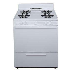 Premier 30 in. Freestanding Gas Pilot Range in White GFK100OP at The