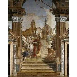 Kunstreproduktion Giovanni Battista Tiepolo Die Begegnung von