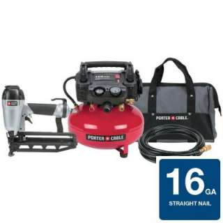PC1PAK 6 Gal. Portable Electric Air Compressor and Finish Nailer Combo