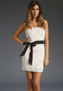 MM COUTURE BY MISS ME Strapless Rose Bud Dress in Ivory at Revolve
