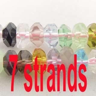 wholesale lot 7 strand mix crystal glass loose beads