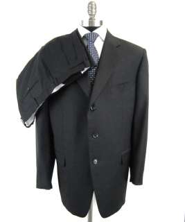 New PAL ZILERI Italy Black Super 120s Suit 48 48R