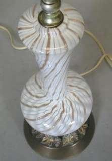 Fratelli Toso Zanfirico Murano Art Glass Lamps c. 1950s Italian