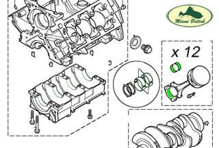 LAND ROVER CONNECTING ROD BEARING SET FREELANDER 02 05