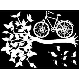 GP 42 TREE & BIKE Graphic Art Wall Decor Decals Sticker