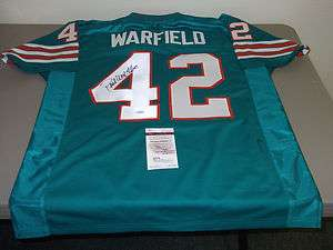 PAUL WARFIELD AUTOGRAPHED MIAMI DOLPHINS FOOTBALL JERSEY, JSA
