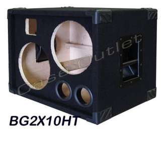 2X10 Bass Guitar Speaker Cabinet Empty, BG2X10HT