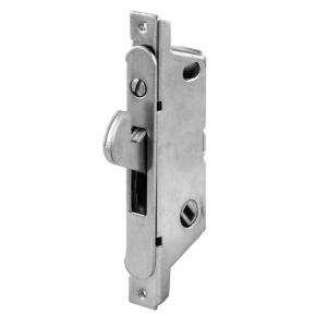 Prime Line Sliding Door Mortise Lock, 45 Degree, Round Face, Stain