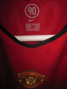 MANCHESTER MAN U ENGLAND JERSEY UK SHIRT RARE TOP MENS L XL