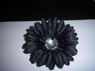 baby HAIR BOW glitz GERBER daisy FLOWER pin up new BLACK gothic
