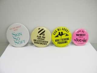 Humorous Buttons Pinbacks Pins Retro Hipster Ironic Stocking Stuffer