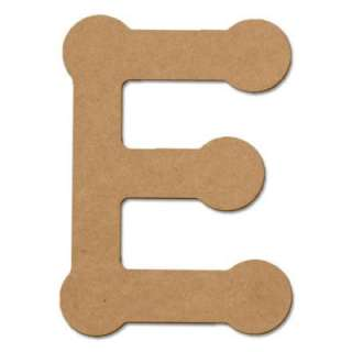 Design Craft MIllworks 8 In. MDF Bubble Letter (E) 47256 at The Home