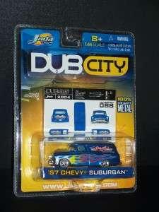 2004 JADA TOYS 1:64 DUB CITY 57 CHEVY SUBURBAN COLLECTOR #088 BLUE