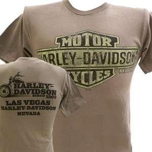 Harley Davidson Las Vegas Dealer Tee T Shirt GRAY SMALL #BRAVA1
