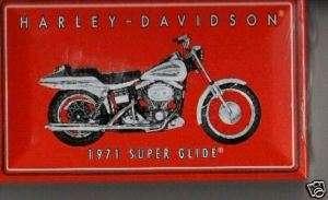 Harley Davidson Motorcycle 1971 Super Glide Match Tin M