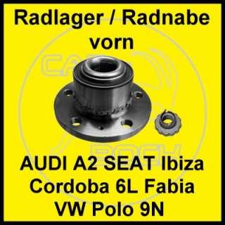 AUDI A2 SEAT Cordoba Ibiza (6L) SKODA Fabia (6Y) VW Polo (9N)