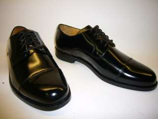 NEW COLE HAAN CASSADY SMOOTH BLACK SHINY LEATHER CAP TOE LACE UP DRESS