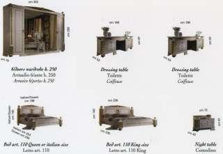 Couch Schlaffunktion Bett Edel Gold Dekor Stilmöbel Italien