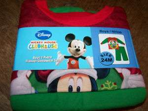 Size 3T Disney Mickey Mouse Flannel Pajamas Set Pants N