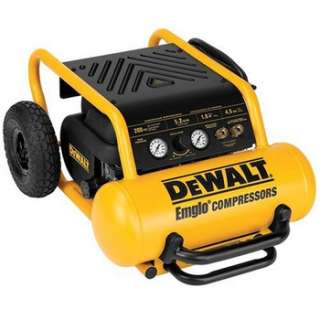 DEWALT 1.6 HP 4.5 Gallon Oil Free Wheeled Portable Air Compressor