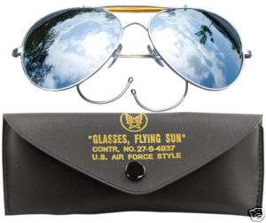 Aviator Mirror Retro Sunglasses Air Force Style