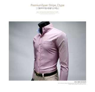 Bros Mens Premium DRESS RED STRIPE Slim Shirts SZ S,M,L no.31