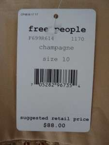 NWT Free People Champagne Sequined Skirt Gold 10 $88