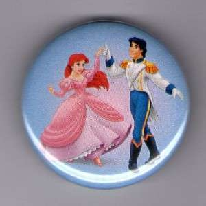 Button Pin Badge The Little Mermaid Ariel Eric Dancing