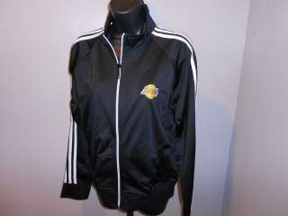 NEW Los Angeles LAKERS Womens Large L Adidas Embroidered Zip Track