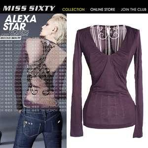 HOT Stunning Slim MISS SIXTY Ladys Cool T shirt Top