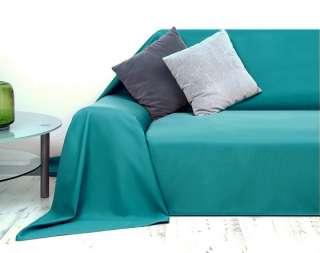 Tagesdecke Plaid Überwurf Sofaüberwurf 210x280cm türkis
