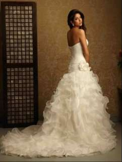Custom New white/ivory Wedding dress Gown Size 2 4 6 8 10 12 14 16 18