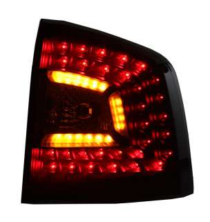 LITEC LED RÜCKLEUCHTEN SKODA OCTAVIA 1Z KOMBI BJ 04  SCHWARZ/SMOKE