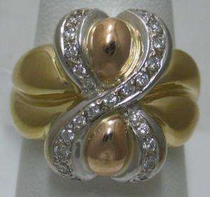 Gorgeous .50cts Diamond Yellow Rose White Gold 14k Ring