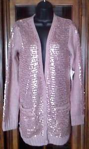 Victorias Secret 2011 ~ Wool Blend Sequin Cardigan Sweater $98