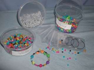Memory Wire Bracelet Kit Kits Makes 10 bracelets Smile 10mm Beaded