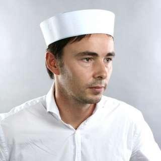 Sailor Gob Hat White Navy Costume Halloween Free Size