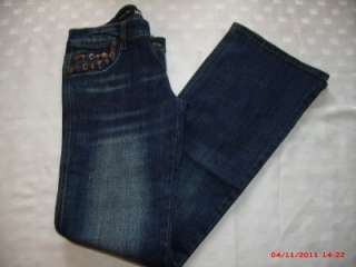 New Womens Jeans By Miss Posh Boot Cut Stud & Buckle Pocket Detail