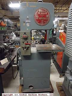 DoAll Contour Saw Model L H V Band Saw