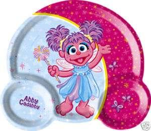Abby Cadabby Kids Plastic Trio Plate (NEW)