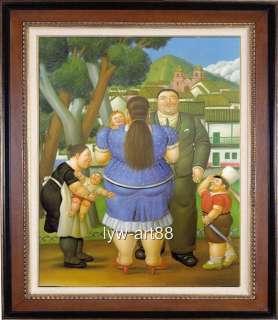 OIL PAINTING ART REPRO OF FERNANDO BOTERO SIGNED NR